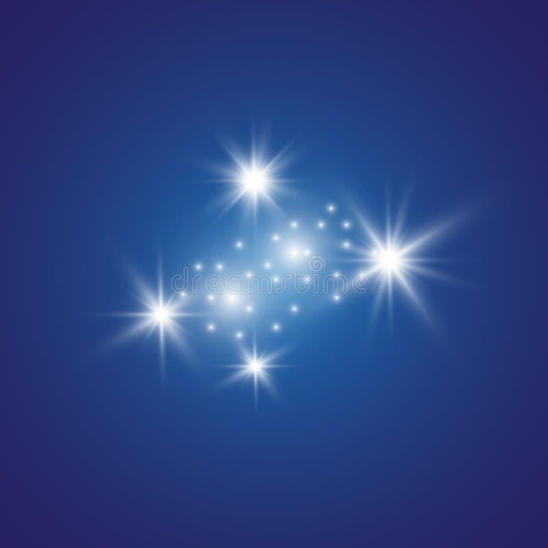 Lekkiego skutka łuna Gwiazda błysnął cekiny tło abstrakcyjna przestrzeni Błyskowy główna atrakcja promień projekt fantastyczny ilustracja wektor