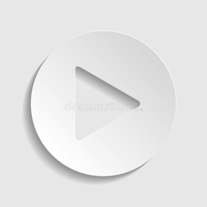 Lekknappsymbol med handtecknet Pappers- stilsymbol illustration arkivfoto