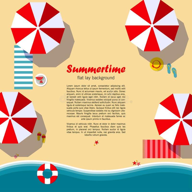 Lekmanna- bakgrund för sommartidlägenhet royaltyfri illustrationer