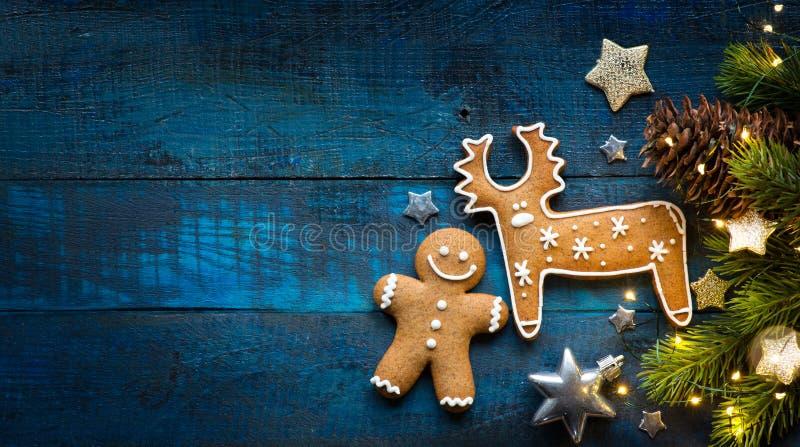 Lekmanna- lägenhet för julferieprydnad; Julkortbakgrund arkivfoto
