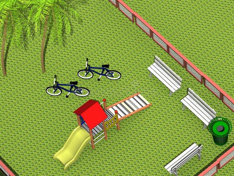 lekplats 3d stock illustrationer