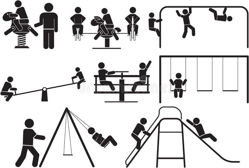 lekplats vektor illustrationer