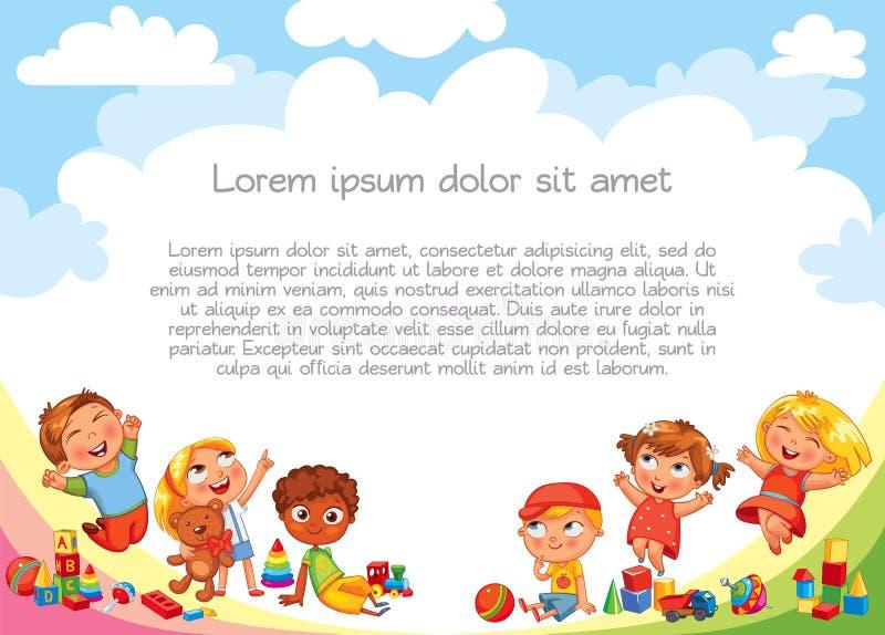 lekplats mall för annonseringsbroschyr royaltyfri illustrationer