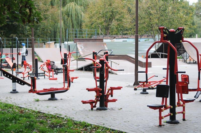 Lekplats med gymnastik royaltyfria foton
