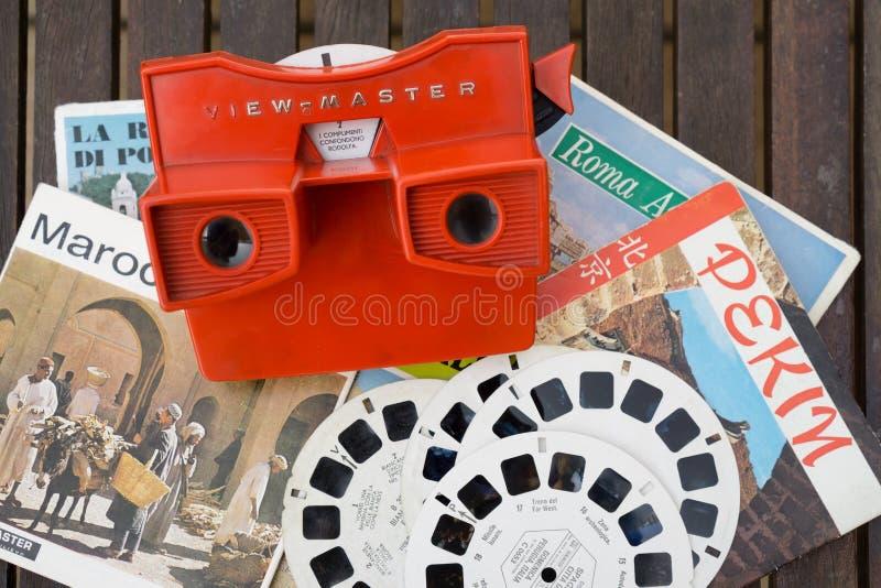 leksak för tittare för Sikt-förlage tappning 3d arkivbild