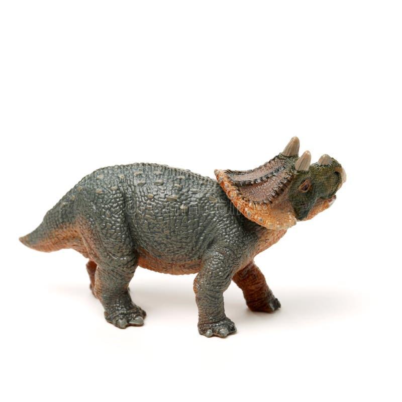 Leksak för triceratops för sidosikt grå royaltyfri bild