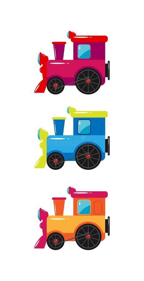 Leksak f?r barn` s Ställ in av barns färgrika drev stock illustrationer