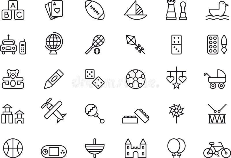 Leksak- och leksymboler royaltyfri illustrationer