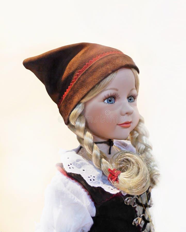 Leksak Toy Profile Vintage för Smilling dockaframsida arkivbilder