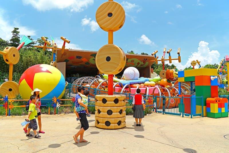 Leksakberättelseplayland på disneyland Hong Kong royaltyfri foto
