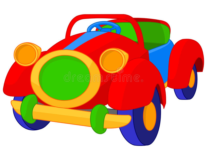 Leksakcabriolet vektor illustrationer