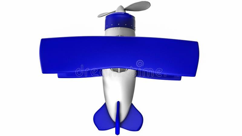 Leksakflygplan p? en vit bakgrund _ framf?rande 3d royaltyfria bilder