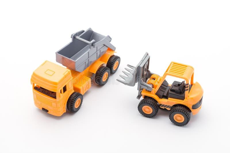 Leksakkonstruktion för två apelsin royaltyfria foton
