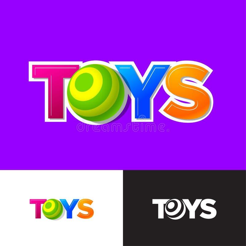 Leksaklogo Behandla som ett barn online- shoppar emblemet Bokstavsnollan som a behandla som ett barn bollen eller sfären stock illustrationer