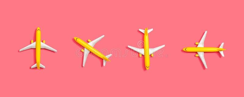 Leksakminiatyrflygplan vektor illustrationer