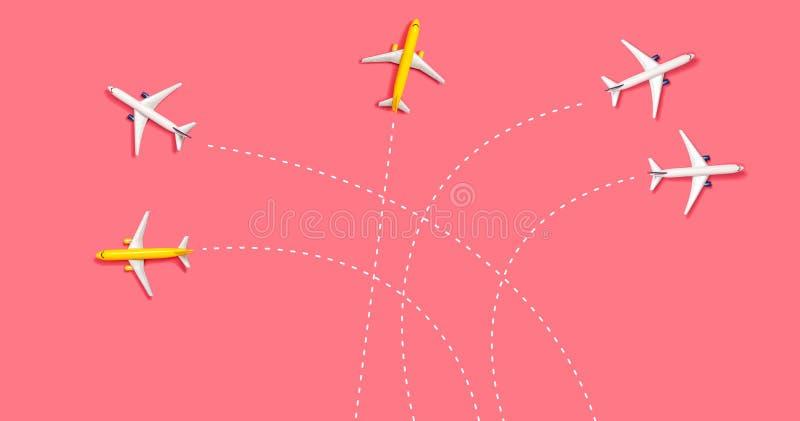 Leksakminiatyrflygplan stock illustrationer