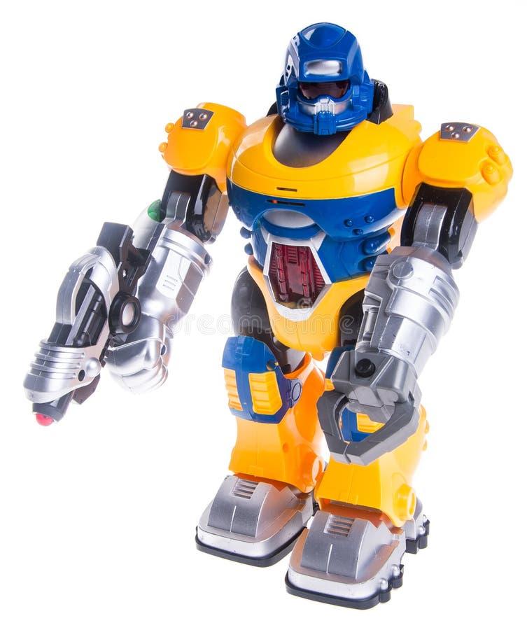Leksakrobot på en bakgrund royaltyfri fotografi