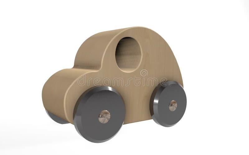 leksakträbil för tolkning 3d vektor illustrationer