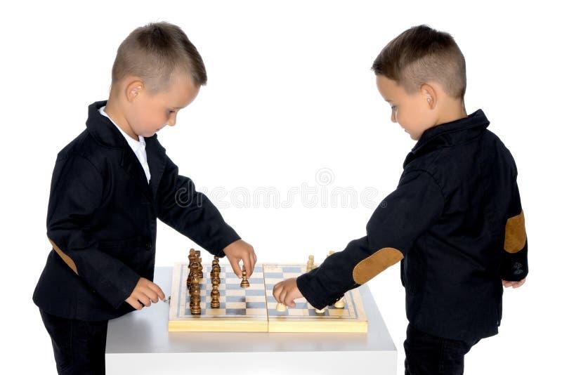 Lekschack för två pyser arkivfoton