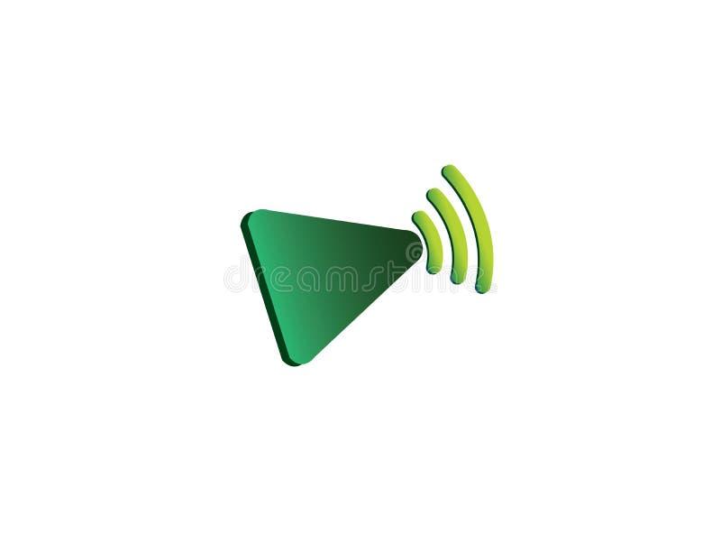 Leksymbol med wififrekvenser för logodesign stock illustrationer