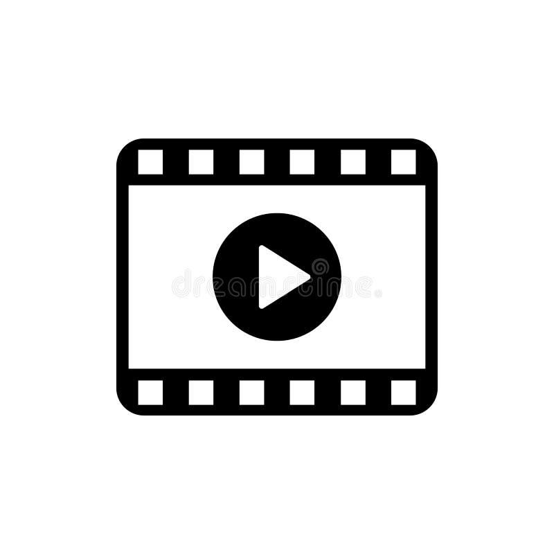 Lekvideosymbol Film icon Symbol för videospelare stock illustrationer