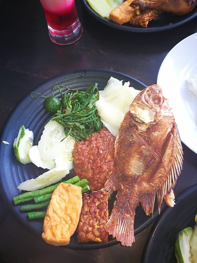 lelapan菜单的nasi 库存图片