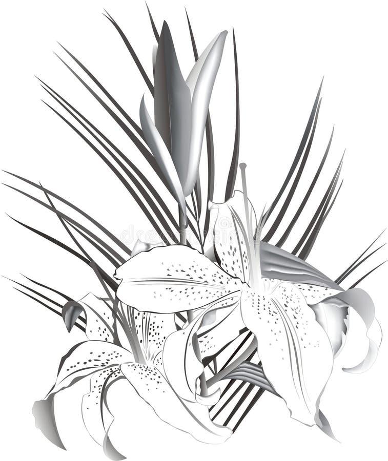 Lelies royalty-vrije stock afbeelding