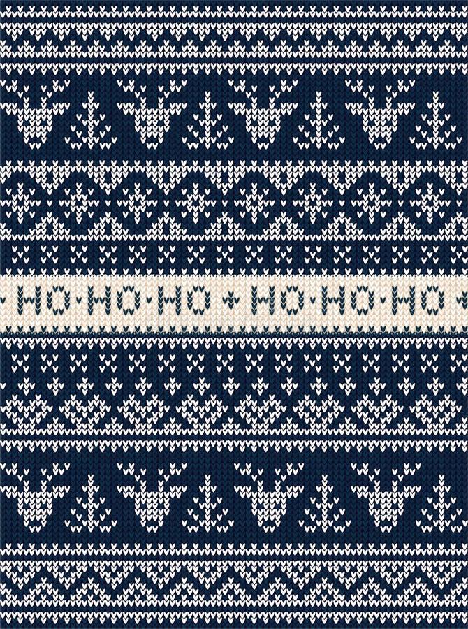 Lelijk van het de partijornament van sweater Vrolijk Kerstmis naadloos patroon als achtergrond vector illustratie
