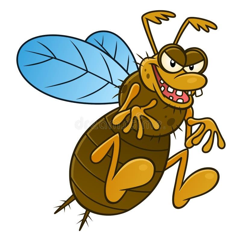 Lelijk vliegend insect stock illustratie