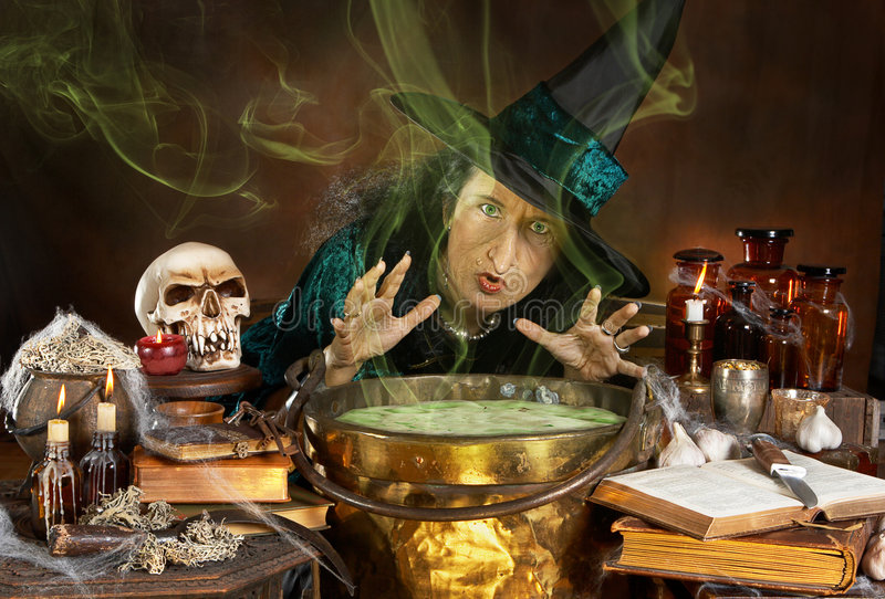Lelijke heks stock foto