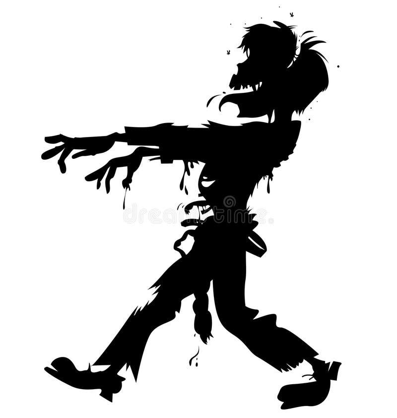 Lelijke zombievector stock illustratie