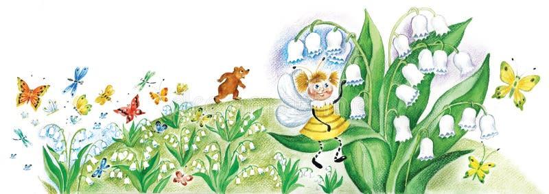 lelui osa mała dolinna ilustracji