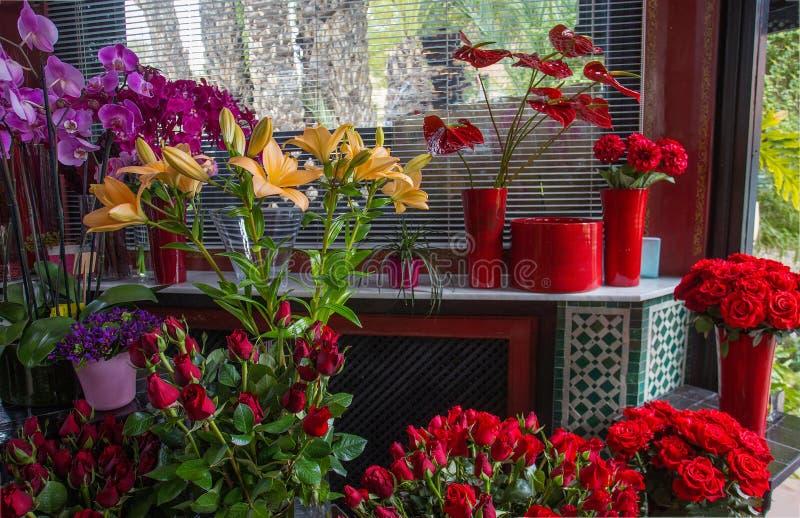 Leluja i inni piękni kwiaty obrazy royalty free