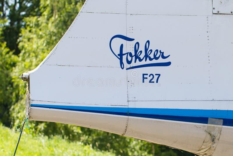 LELYSTAD, OS PAÍSES BAIXOS - 9 DE JUNHO DE 2016: Fokker F27-200MAR Frie imagens de stock royalty free