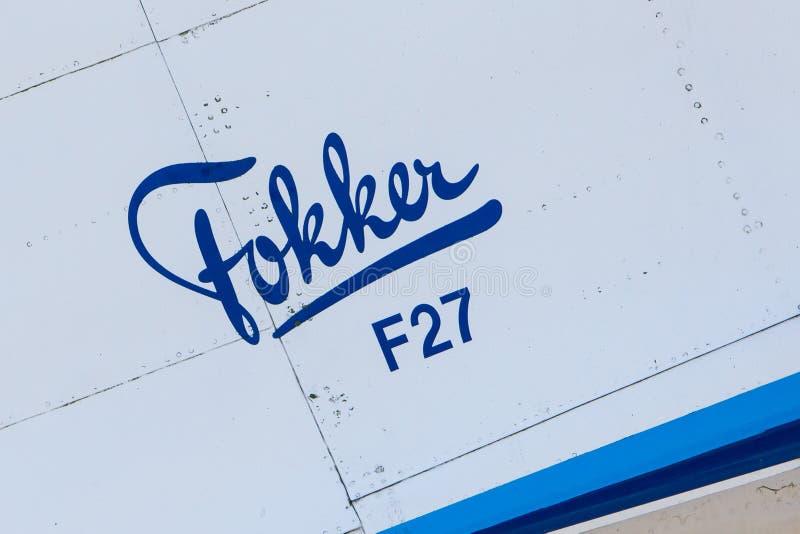 LELYSTAD, OS PAÍSES BAIXOS - 9 DE JUNHO DE 2016: Fokker F27-200MAR Frie foto de stock