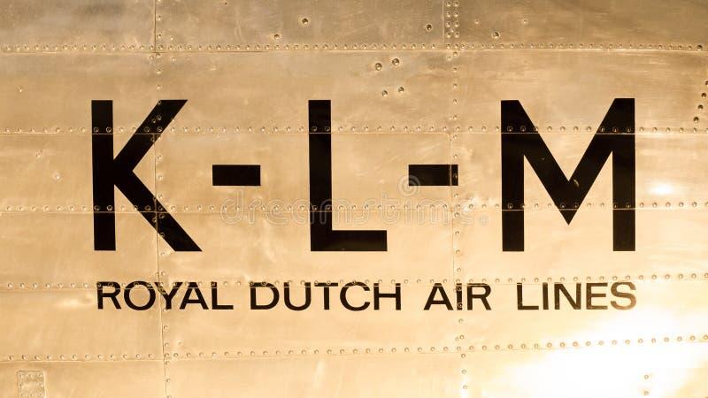 LELYSTAD, OS PAÍSES BAIXOS - 9 DE JUNHO; Logotipo do vintage do quilolitro holandês fotos de stock royalty free