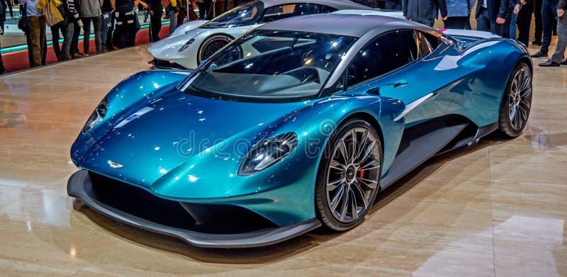 Lemański Motorowy przedstawienie 2019 Aston Martin Aston Martin Vanquish wzrok Concept Car fotografia stock