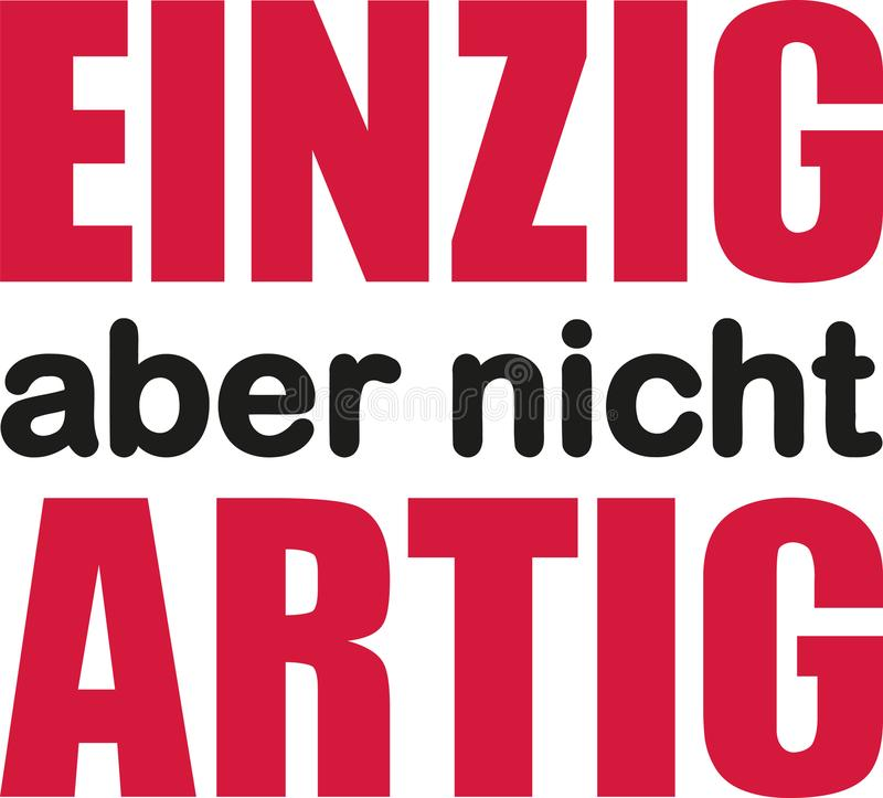 Lema alemán - único pero noch comportado stock de ilustración