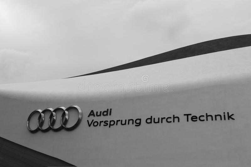 Lema de Audi fotografía de archivo libre de regalías