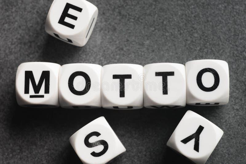 Lema de la palabra en los cubos del juguete fotos de archivo libres de regalías
