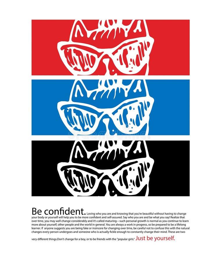 Lema de la tipografía con el vector de los labios para la impresión y el bordado de la camiseta libre illustration