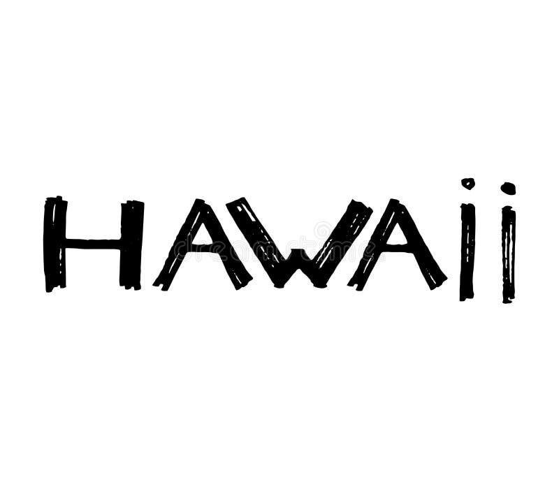 Lema de la tipografía Dé el vector exhausto de la isla de Hawaii para la impresión de la camiseta ilustración del vector