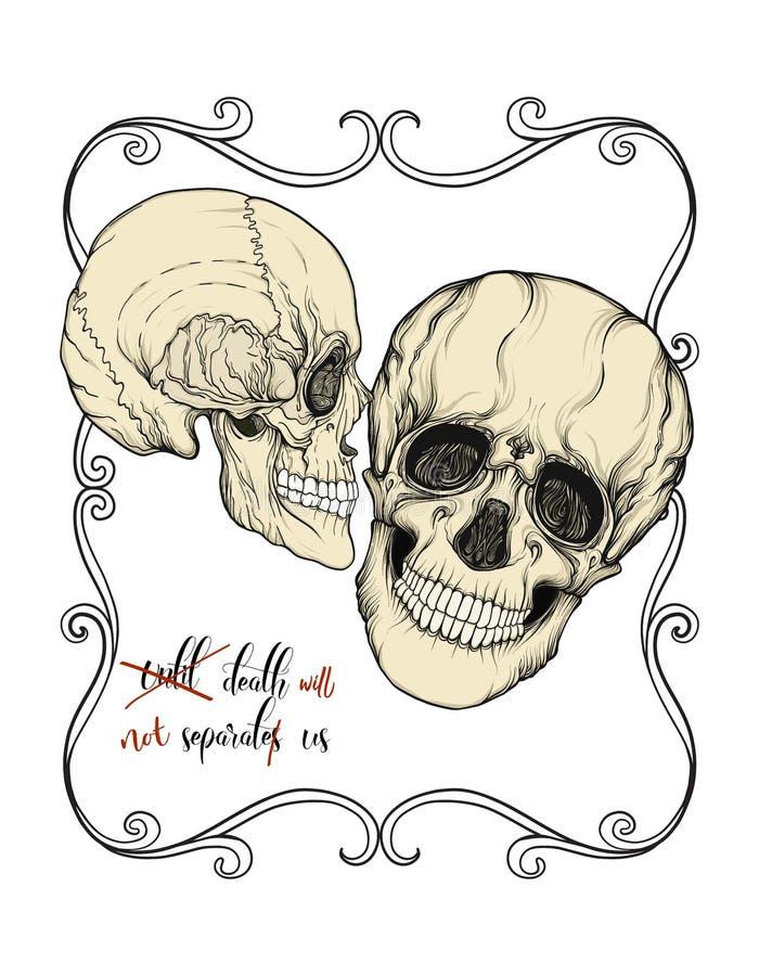 lema de los cráneos stock de ilustración