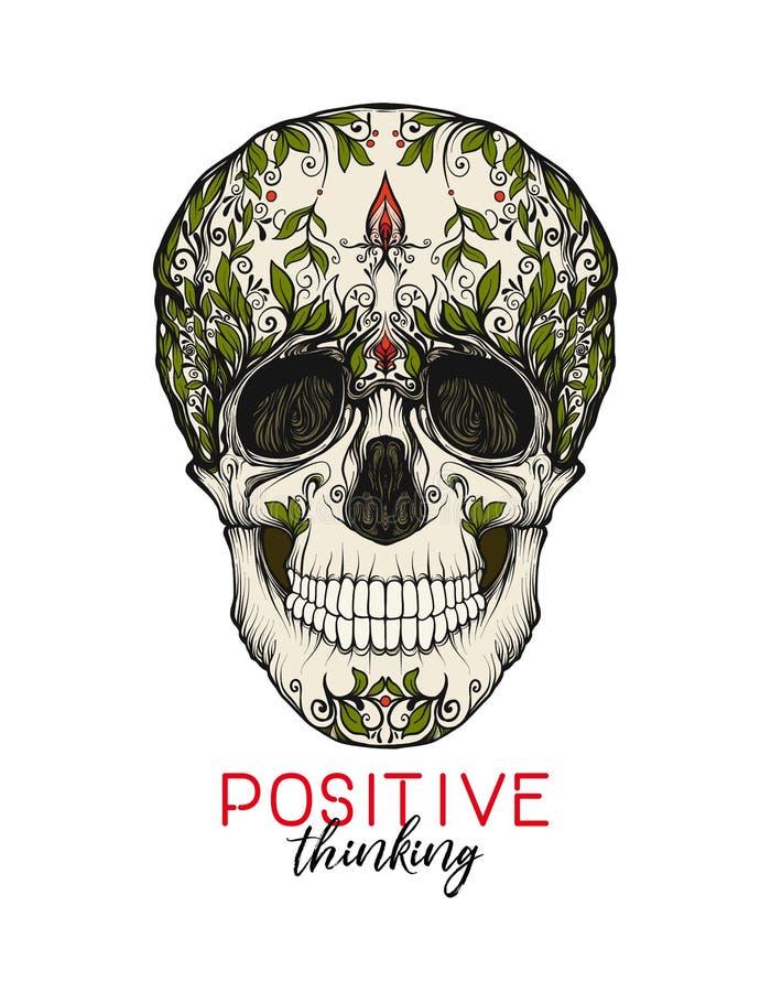 lema de los cráneos ilustración del vector