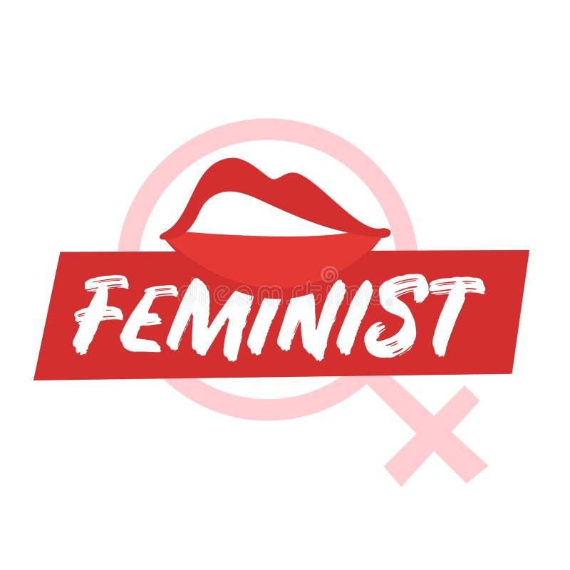 Lema feminista para el diseño de la ropa libre illustration