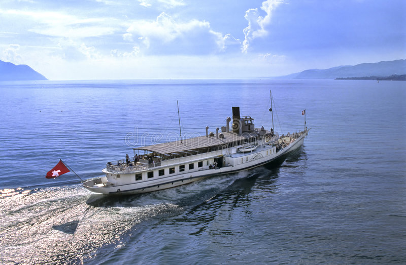 Leman boat stock photos