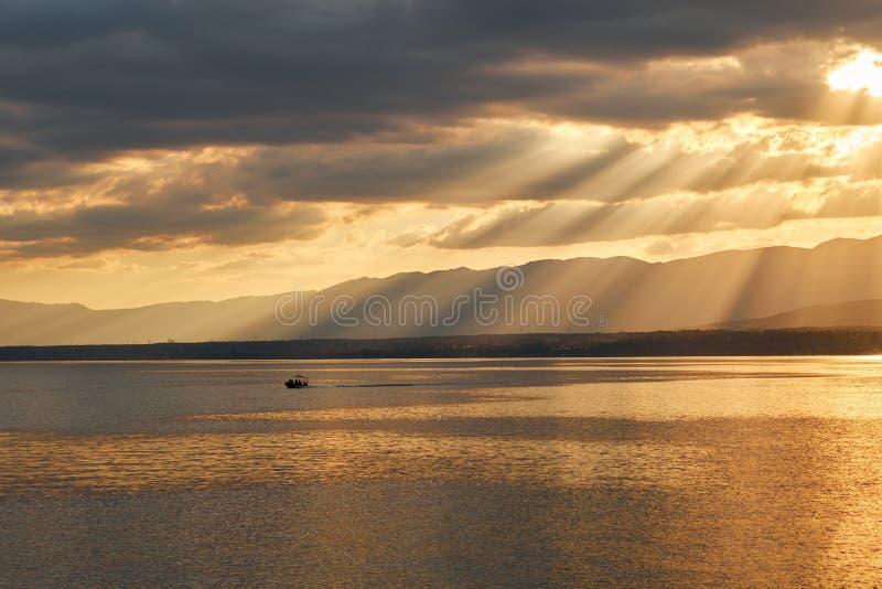Leman jezioro fotografia stock