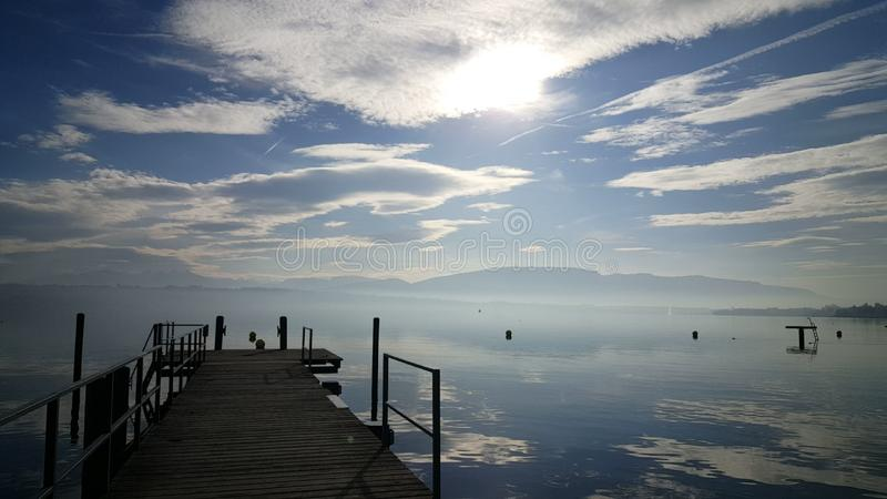 Leman Lake stock foto's
