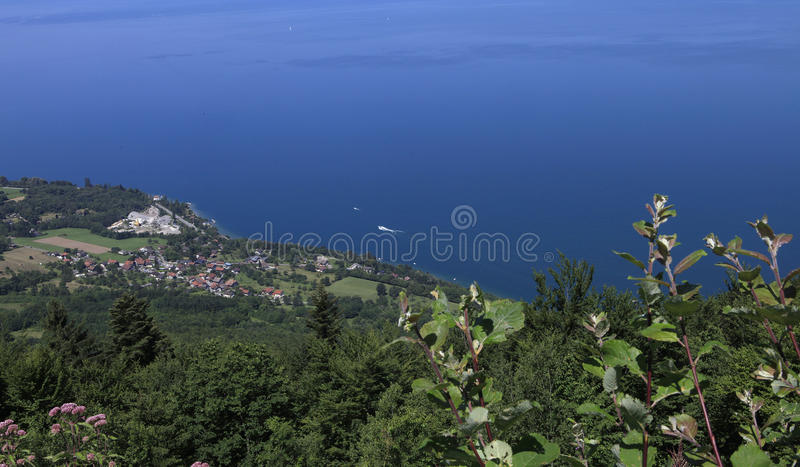 The Leman Lake, Evian, France Royalty Free Stock Photos