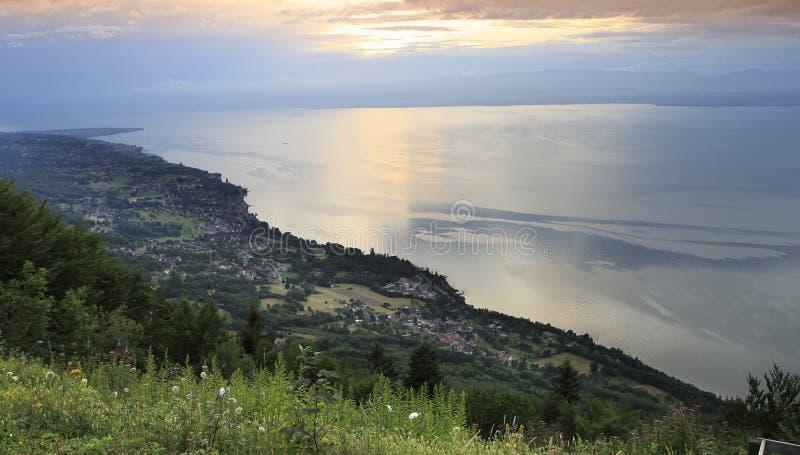 The Leman lake, near Evian, Savoie, France